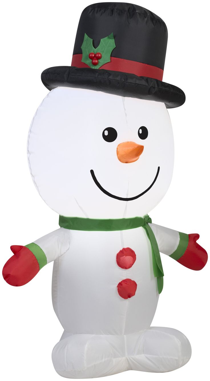 3.5' Airblown Outdoor Snowman Christmas Inflatable