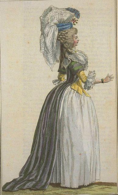 Cabinet des Modes, Novembre 1786 robe a la turque.