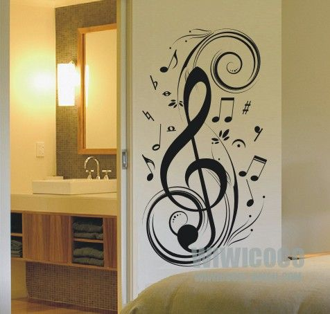 In My House, There WILL Be A Room Dedicated To Music, And This Will Be On  The Wall! | Wherever I Am With You. | Pinterest | Wall Decal Sticker, ...