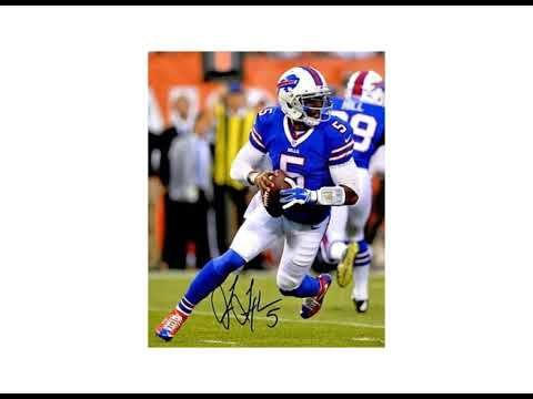 Signed Tyrod Taylor Photo - 8x10 #5 blue jersey scramble) - Autographed ...