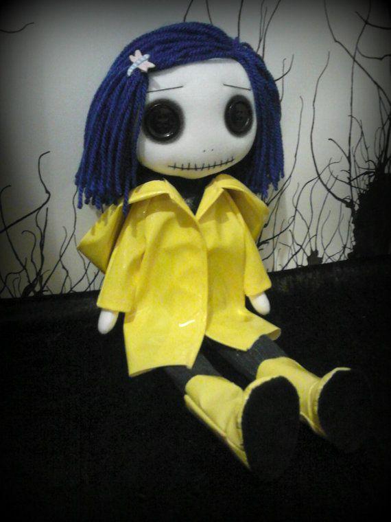 Coraline Rag Doll by ChamberOfDolls on Etsy