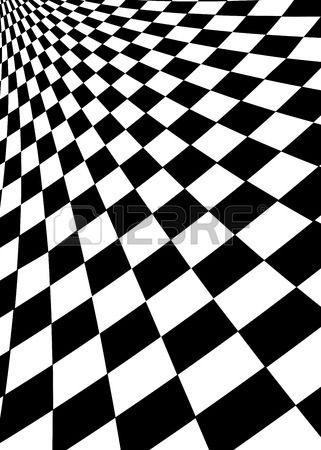 Carr s noirs et blancs Opt art illustration Banque d'images