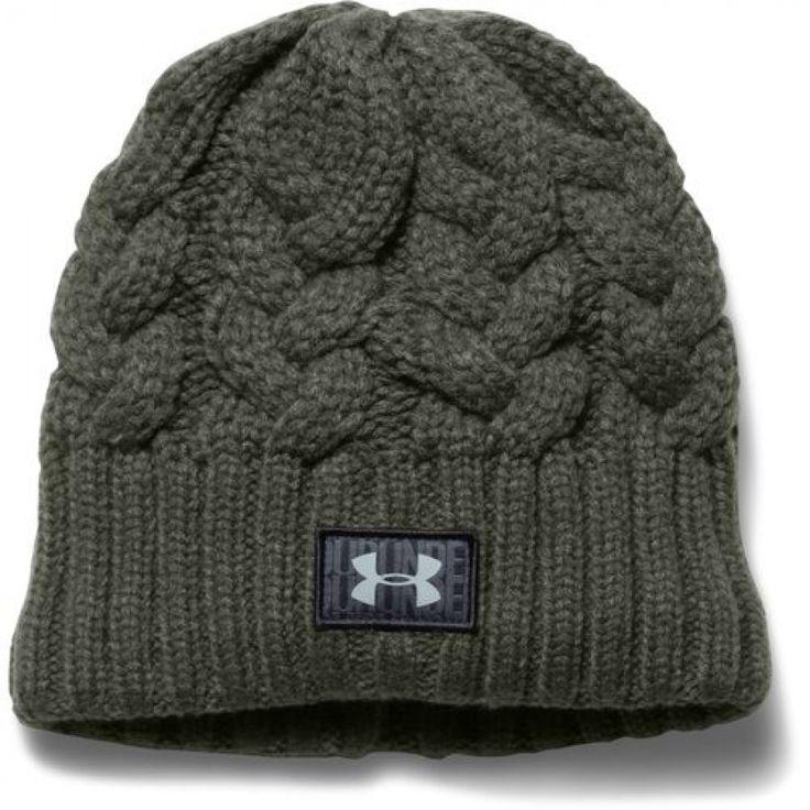 Dámská vlněná zimní čepice Under Armour v barvě khaki