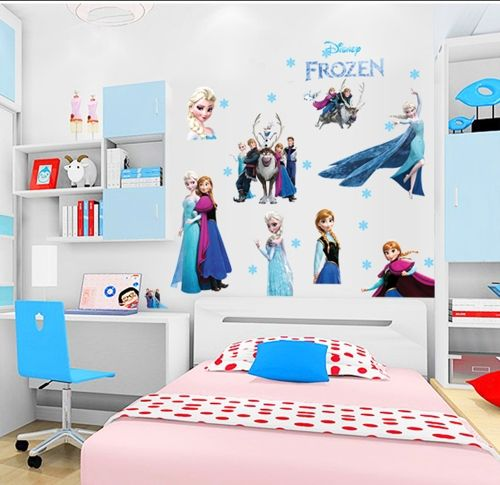 Frozen Princess Removable Wall Stickers Art Decals Mural DIY Wallpaper for Room Decal 60 * 90cm