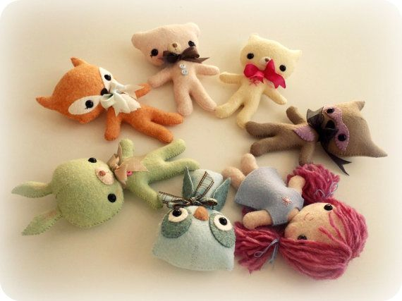 Tag-Alongs Set of Seven от Gingermelon на Etsy