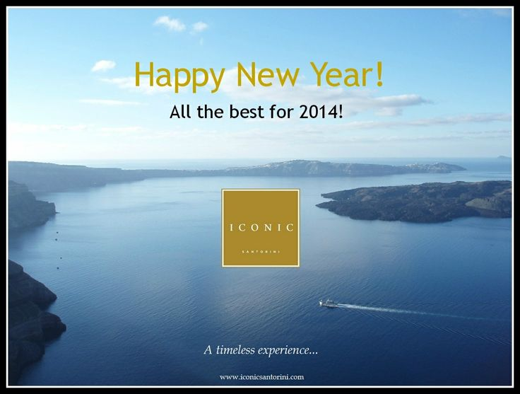 Happy New Year from Iconic Santorini, all the best for 2014!