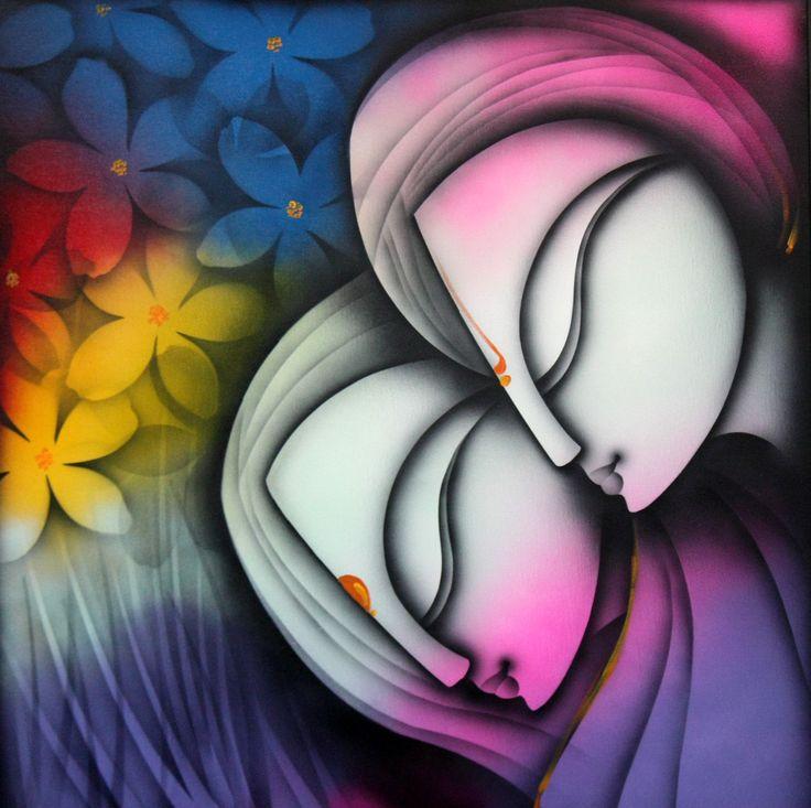 Buy 'Love' a beautiful painting by Indian Artist K. Prakash Raman