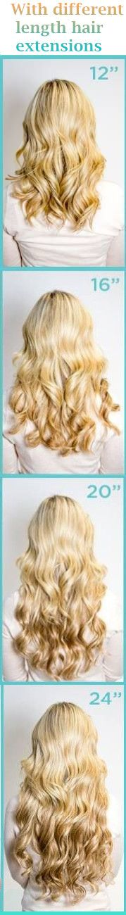Different length of hair extensions satisfied your need! Are you ready for the date?