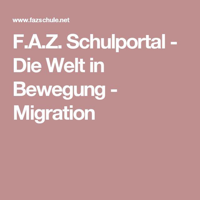 F.A.Z. Schulportal - Die Welt in Bewegung - Migration