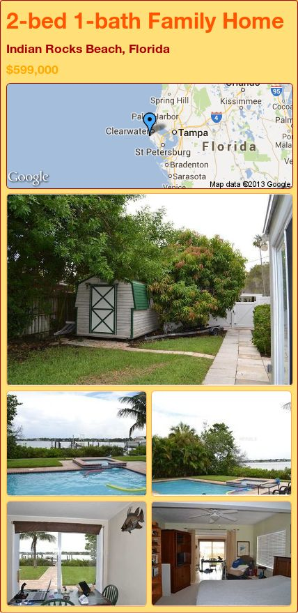 2-bed 1-bath Family Home in Indian Rocks Beach, Florida ►$599,000 #PropertyForSale #RealEstate #Florida http://florida-magic.com/properties/15784-family-home-for-sale-in-indian-rocks-beach-florida-with-2-bedroom-1-bathroom