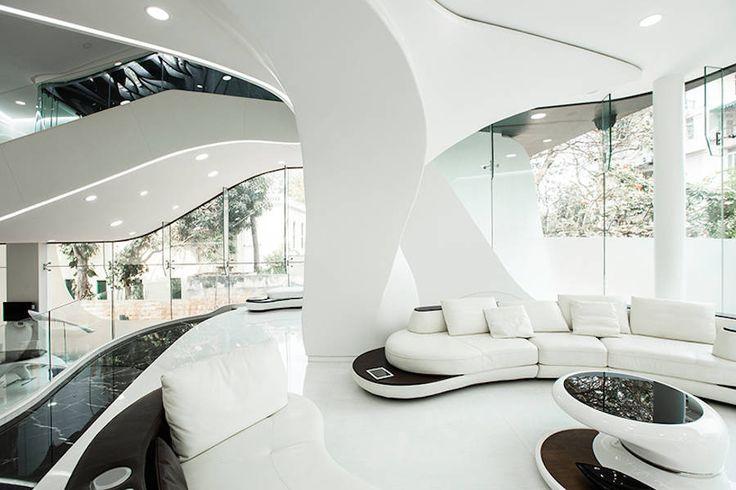 #casa #futurista #curvas #futuro #índia