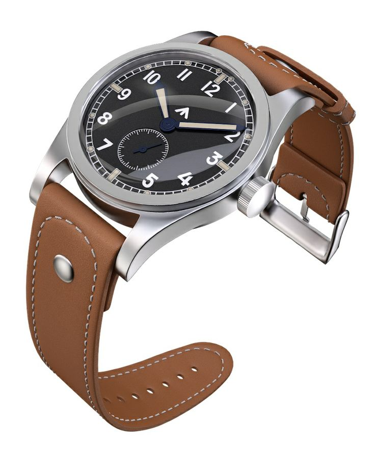 The ultimative military watch… UK airforce version. Mechanism LACO produced in SEPTEMBER 1944 saved in FEBRUARY 1945 from BOMBING of Pforzheim. REBORN in 2014 by TNT Germany...