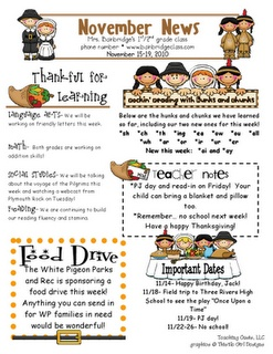newsletter- parent involvement post by Mrs. Bainbridge