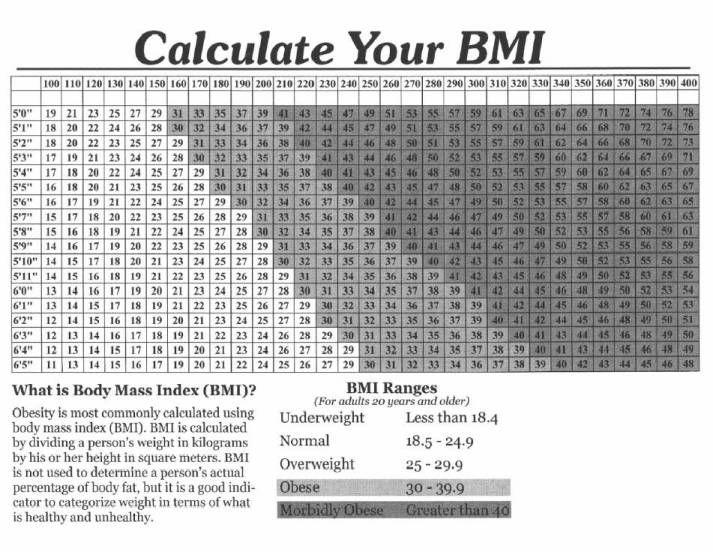 Elegant Normal Bmi Chart 10 best healthy eats images on pinterest