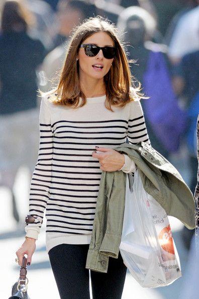 stripes #oliviapalermo: Oliviapalermo, Casual Style, Breton Stripes, Street Style, Stripes Sweaters, Style Icons, Stripes Shirts, Olivia Palermo, Long Bobs