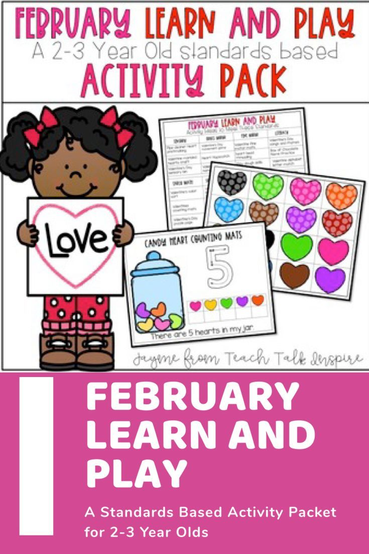 February Learn And Play Activity Pack A 2 3 Year Old Standards