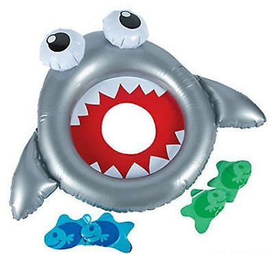Inflatable SHARK Ring Toss Luau Tropical Beach Pool Party Game in Home & Garden,Greeting Cards & Party Supply,Party Supplies | eBay