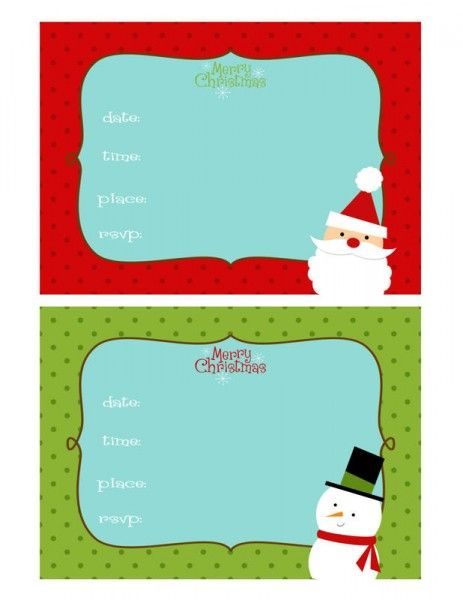 19 best Winter Birthday Party \ Free Printables images on - free xmas invitations