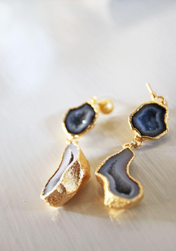 geode earrings by Nina Nguyen
