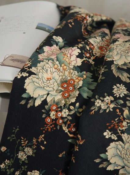 0.5 meter  Penoy  Linen Cotton  Fabric 5 Color by marsearch, $5.80