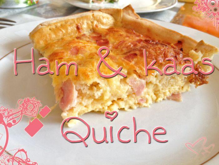 Heerlijke ham-kaas quiche, makkelijk zelf te maken