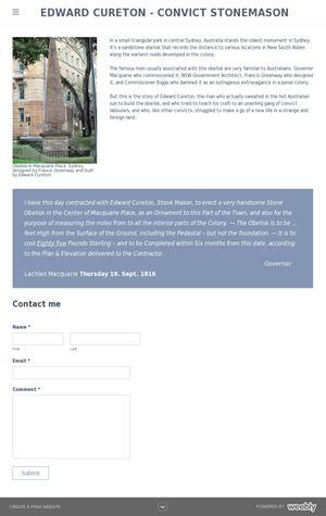 new Website on Edward Cureton    http://ozhistoryspot.weebly.com/