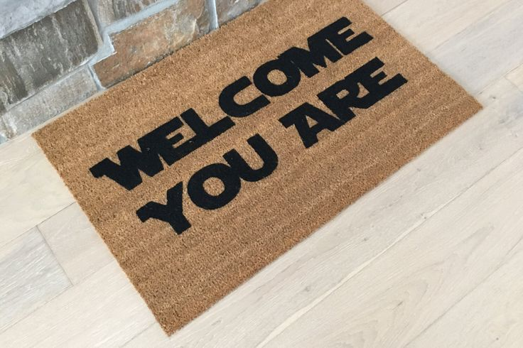 Star Wars Gift - Cool Doormats - Welcome Mat - Gift for Star Wars Lover - Yoda Gifts by GoodDayDoormats on Etsy https://www.etsy.com/listing/503285391/star-wars-gift-cool-doormats-welcome-mat