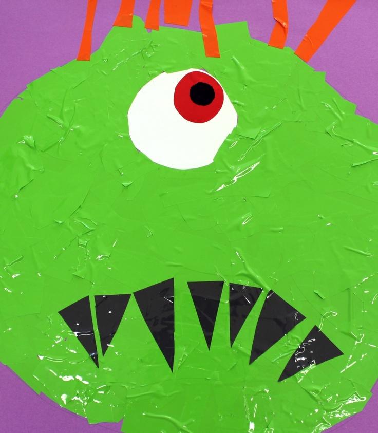 Mes Ateliers : Réalisation de monstres en papier découpé et collage.