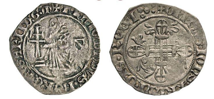 NumisBids: Numismatica Varesi s.a.s. Auction 67, Lot 485 : RODI RAYMOND BERENGER (1365-1374) Gigliato. D/ Il Gran Maestro...