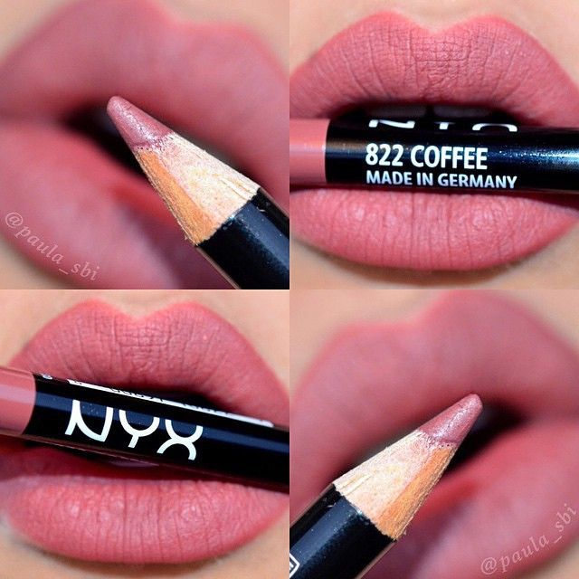 using our Slim Lip Pencil in 'Coffee'! #nyxcosmetics