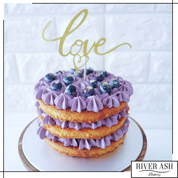 Naked Lemon Blueberry Cake - River Ash Bakery - Cakes and Desserts Singapore