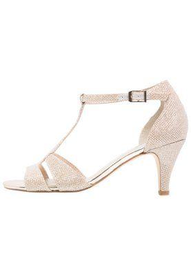 Sandały - gold glam