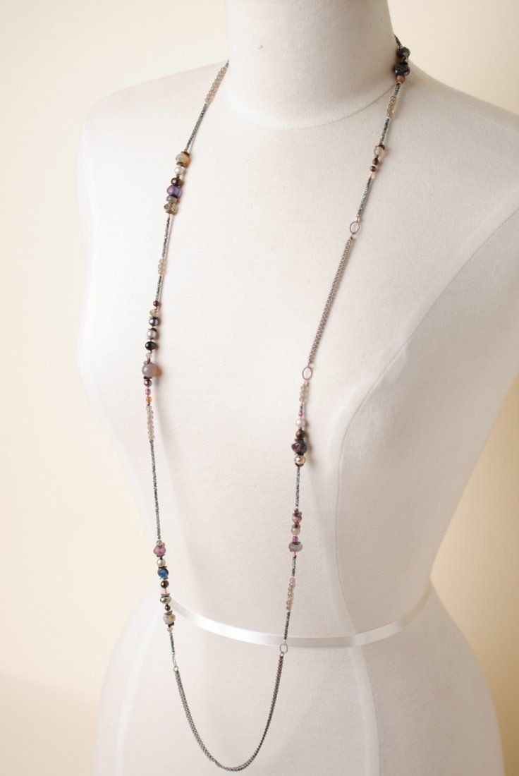 """Anne Vaughan Designs - Abalone 49"""" Long Gemstone Wrap Multi strand Necklace, $85.00 (https://www.annevaughandesigns.com/abalone-gemstone-wrap-multi-strand-necklaces-for-women/)"""