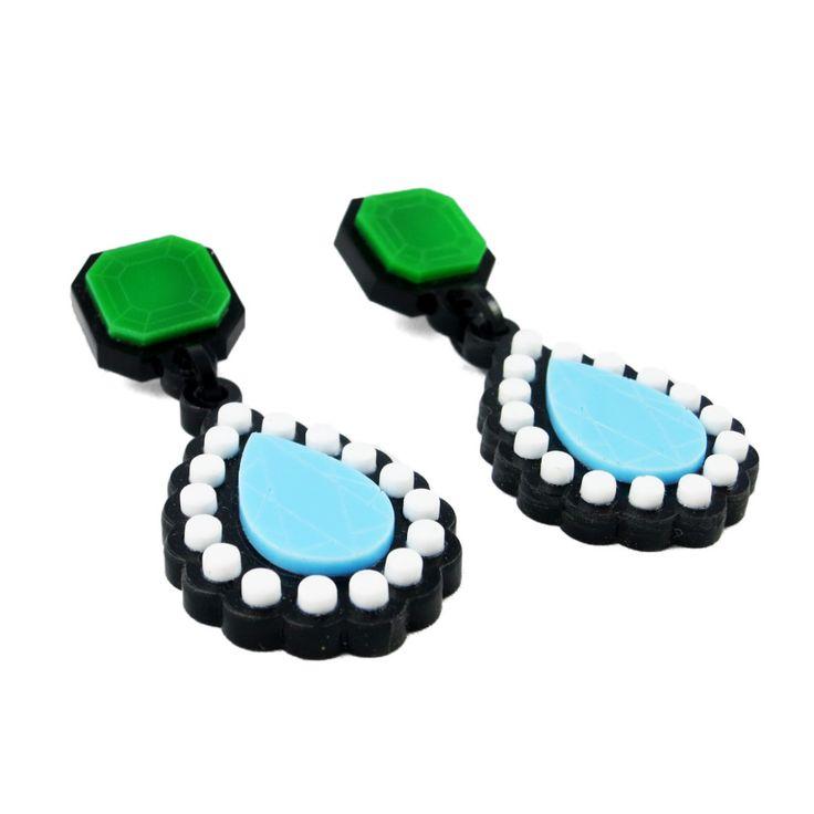 """""""Liz"""" green earrings   $40   #UnderOurSky"""