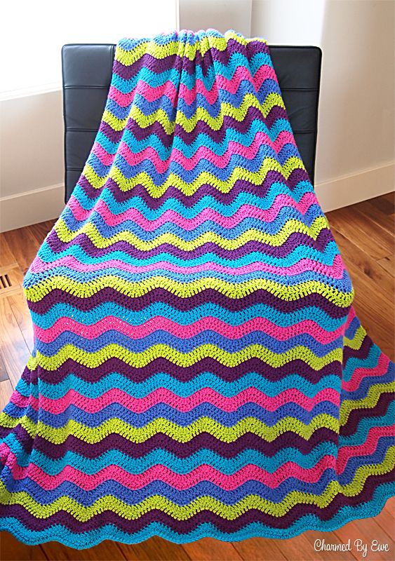 Charmed By Ewe Ripple Afghan Pattern