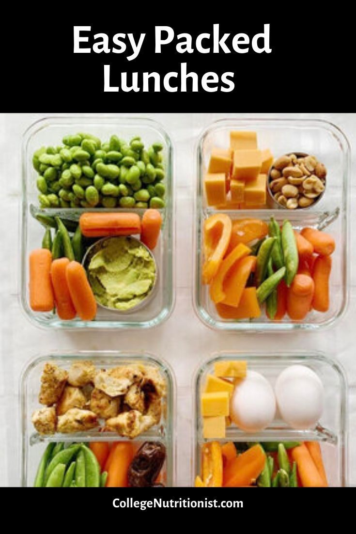 Easy Packed Lunches The College Nutritionist In 2020 Easy Packed Lunch Healthy Lunch Easy Healthy Lunches