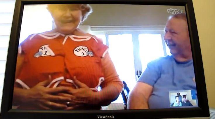 Surprise Ending Skype Baby Announcement ! - Family Videos