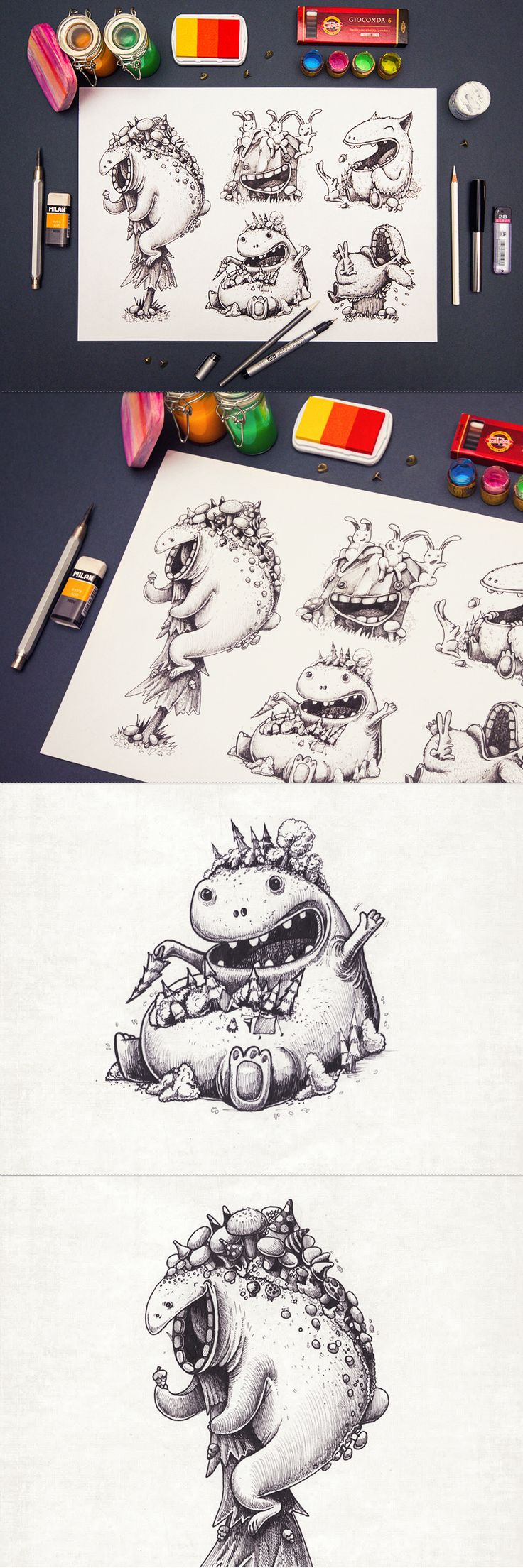 Gorgeous iOS Game Design Concepts by Creative Mints (+ Character Sketches)