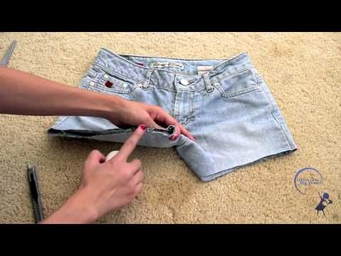 How to cut jeans into shorts
