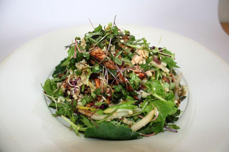 Pear and Balsamic Pork Bulghur Salad