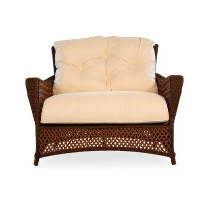 Lloyd Flanders Grand Traverse Chair & a Half with Cushions Fabric: Yoko Mediterranean, Finish: Bisque