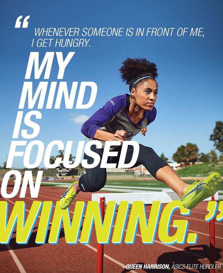 """I'm never satisfied with any part of my race…I know I can always get better."""" - Queen Harrison #hurdler #athlete #quote #inspire"""