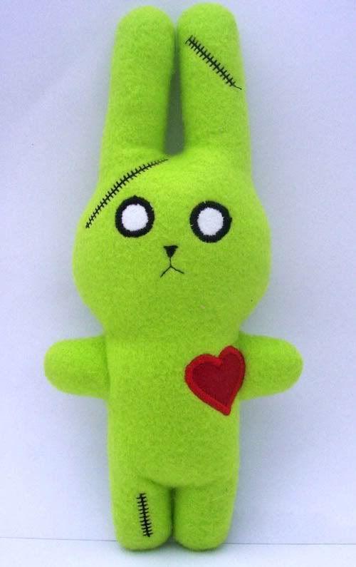 Zombie Bunny Fleece Plush for Jaden <3