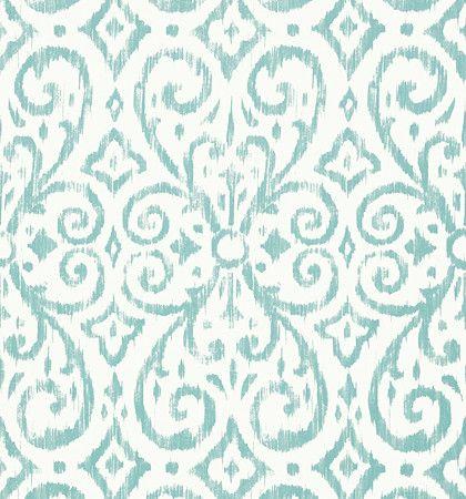 Thibaut Caravan Wallpaper Patara Ikat Aqua T64145