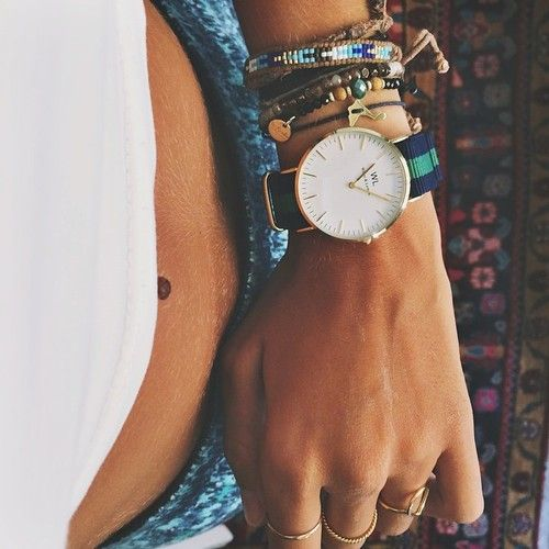 juxtaposition of preppy and boho