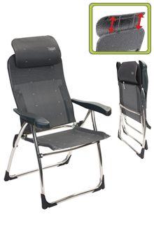 De Crespo Compact kan dankzij het inklapbare hoofdkussen extra klein worden ingeklapt. Ideaal voor als je weinig bagage ruimte hebt. Verder is het een solide en stevige stoel. >> http://www.kampeerwereld.nl/crespo-al-215-compact/