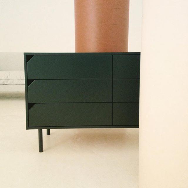 finnegan green on aliya chest of drawers styled by the delightfully calm @breeleech #graziaandco