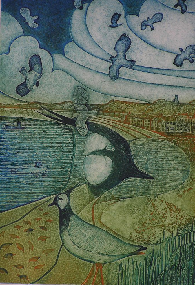 Gallery of Laurie Rudling - Aquatint Etchings, Collagraphs and Original Prints Winter Coast