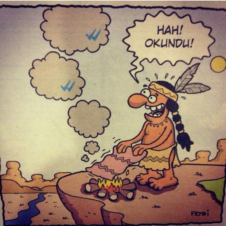 Whatts up: Hah! Okundu!  #karikatür #mizah