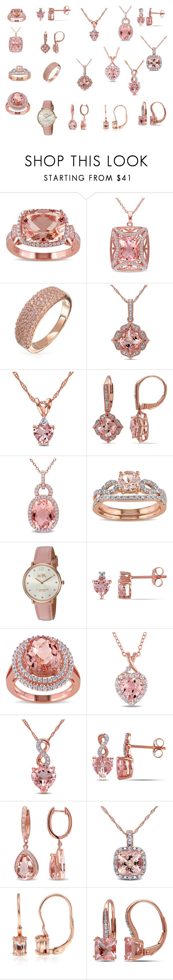 """""""Outubro Rosa"""" by marciabackermendes ❤ liked on Polyvore featuring Miadora, Bling Jewelry, Coach and Glitzy Rocks"""